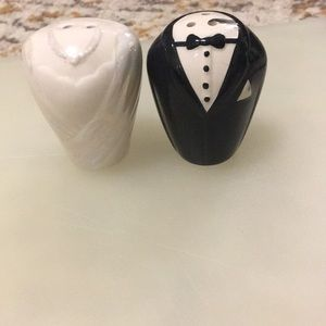 Bride and Groom Salt and Pepper Shaker Set
